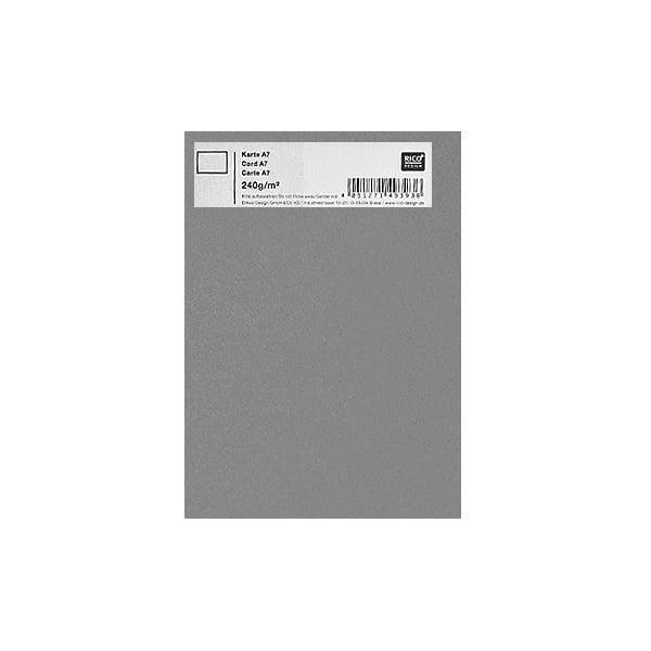 Картичка цветен картон RicoDesign, PAPER POETRY, А7 Картичка цветен картон RicoDesign, PAPER POETRY, А7, 240g, GRAU