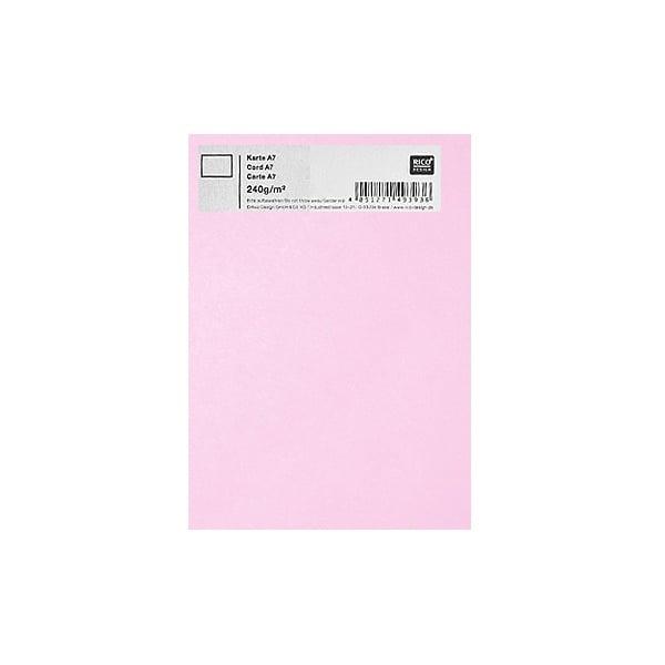 Картичка цветен картон RicoDesign, PAPER POETRY, А7 Картичка цветен картон RicoDesign, PAPER POETRY, А7, 240g, ROSA