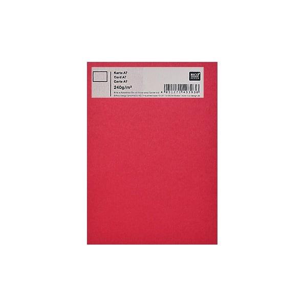 Картичка цветен картон RicoDesign, PAPER POETRY, А7 Картичка цветен картон RicoDesign, PAPER POETRY, А7, 240g, ROT