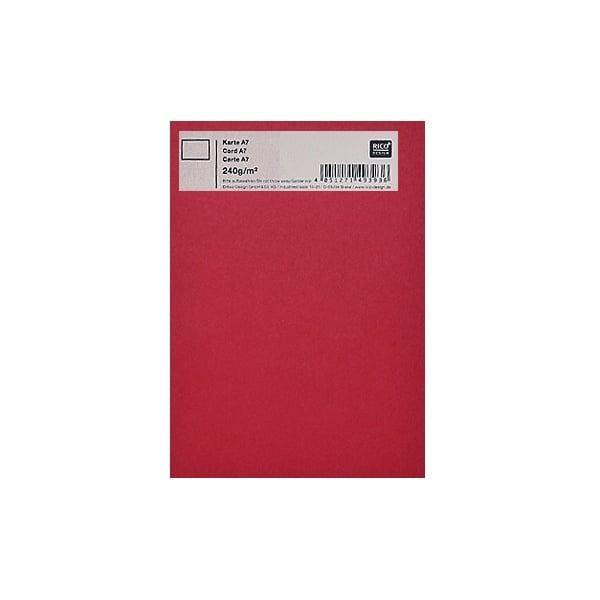 Картичка цветен картон RicoDesign, PAPER POETRY, А7 Картичка цветен картон RicoDesign, PAPER POETRY, А7, 240g, DUN.ROT
