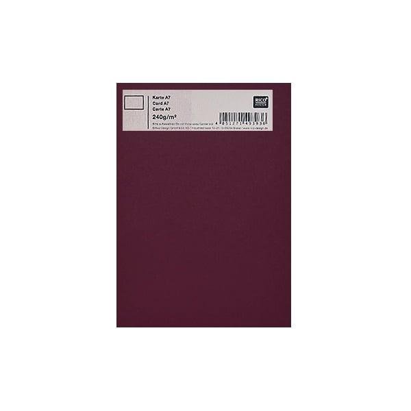 Картичка цветен картон RicoDesign, PAPER POETRY, А7 Картичка цветен картон RicoDesign, PAPER POETRY, А7, 240g, BORDEAUX
