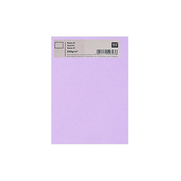 Картичка цветен картон RicoDesign, PAPER POETRY, А7 Картичка цветен картон RicoDesign, PAPER POETRY, А7, 240g, FLIEDER