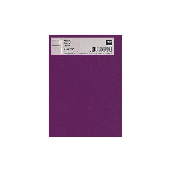 Картичка цветен картон RicoDesign, PAPER POETRY, А7 Картичка цветен картон RicoDesign, PAPER POETRY, А7, 240g, LILA