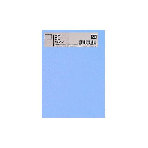 Картичка цветен картон RicoDesign, PAPER POETRY, А7 Картичка цветен картон RicoDesign, PAPER POETRY, А7, 240g, HE.BLAU