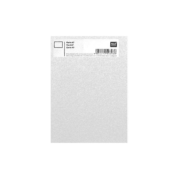 Картичка цветен картон RicoDesign, PAPER POETRY, А7 Картичка цветен картон RicoDesign, PAPER POETRY, А7, 285g, CRYSTAL