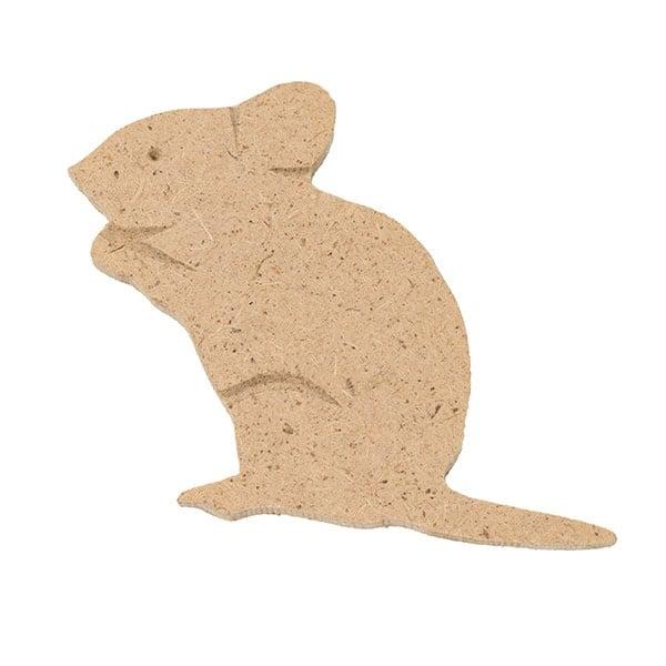 Декоративна фигура RicoDesign, МИШКА, MDF, 7/6.5/0.5 cm