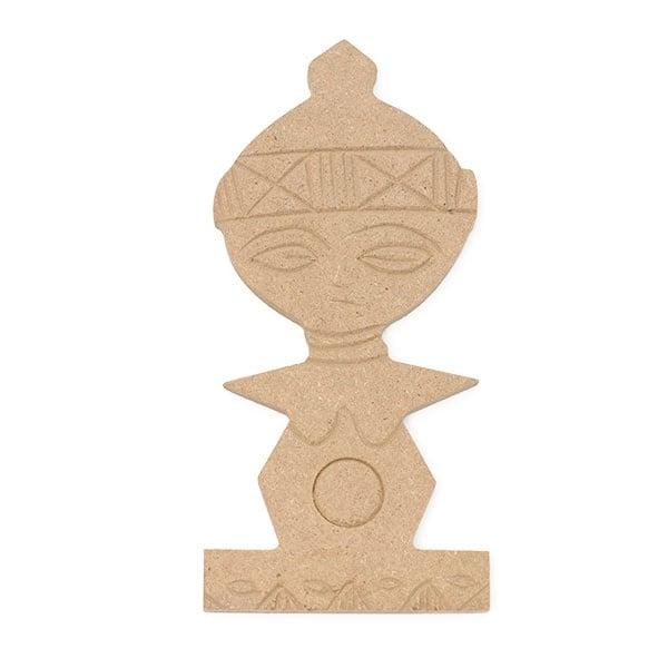 Декоративна фигура RicoDesign, АФРО-СИМВОЛ, MDF, 13.5/6/0.5 cm