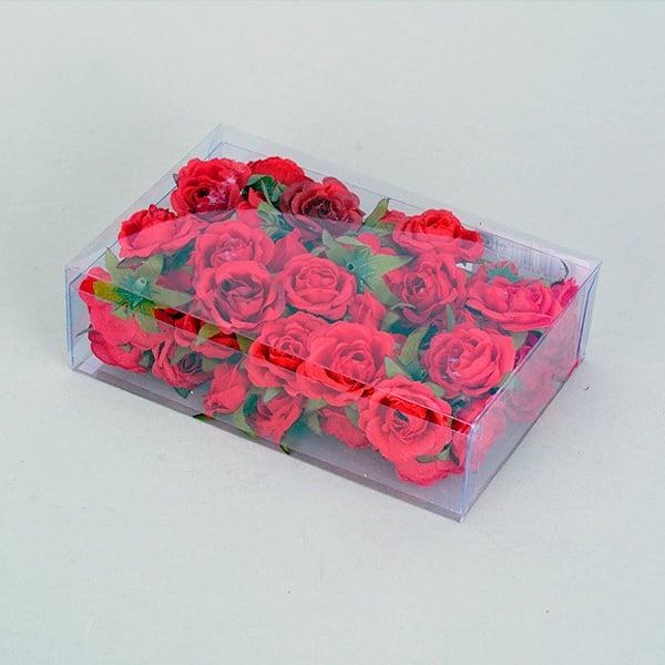 Розов цвят, Ø 30 mm, 50 бр., бордо