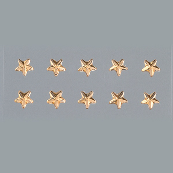 Самозалепващи се кристали Самозалепващи се кристали, Stern, звезда, 4, 5, 6, 8 mm, 56 бр., светъл топаз