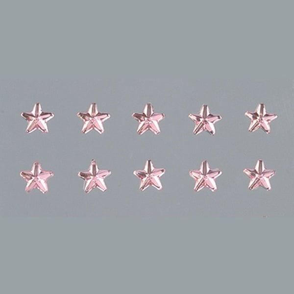 Самозалепващи се кристали Самозалепващи се кристали, Stern, звезда, 4, 5, 6, 8 mm, 56 бр., светла роза
