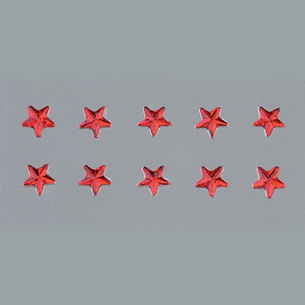 Самозалепващи се кристали Самозалепващи се кристали, Stern, звезда, 4, 5, 6, 8mm, 56 бр., червени