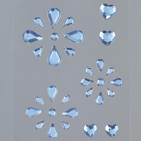 Самозалепващи се кристали Самозалепващи се кристали, Tropfen Mix, 31 бр., сини