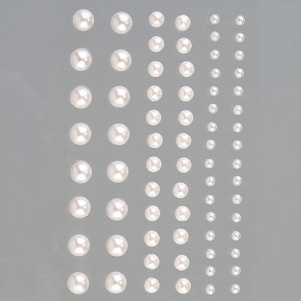 Самозалепващи се перли, Rund, кръг, 3, 5, 7 mm, 72 бр.