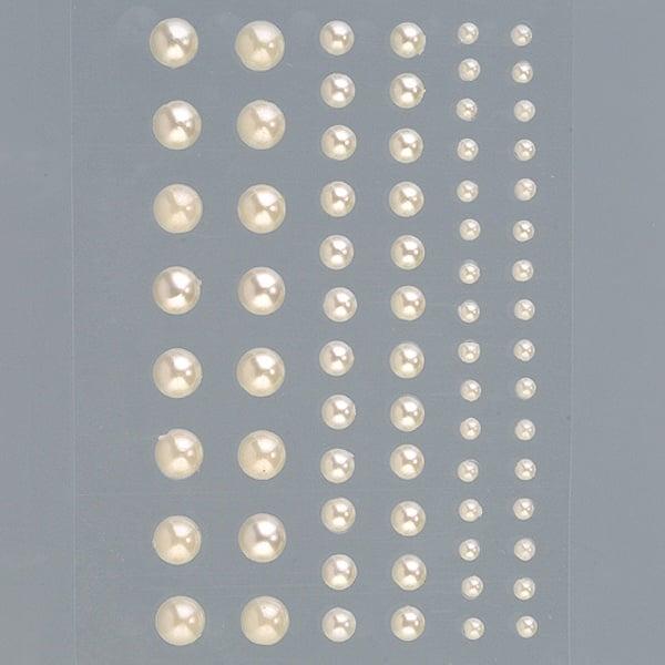 Самозалепващи се перли, Rund, кръг, 3, 5, 7 mm, 72 бр. Самозалепващи се перли, Rund, кръг, 3, 5, 7 mm, 72 бр., крем