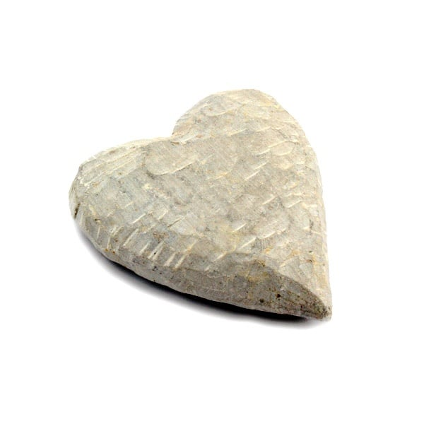 Сърце, голямо, Herz Rohling gross, сапунен камък,  8 х 5 сm