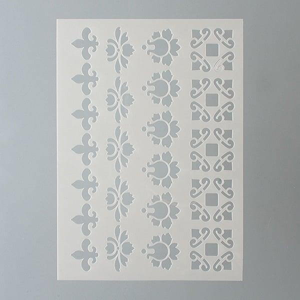 Шаблони за декорация  Шаблон, бордюри, 4 части, DIN A5