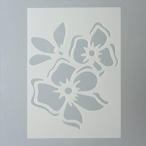 Шаблони за декорация  Шаблон, цвете, 1 част, DIN A5