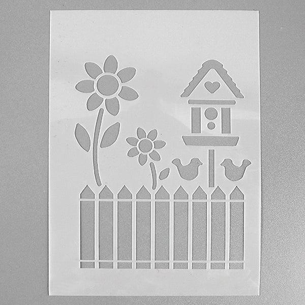 Шаблони за декорация  Шаблон, градина, 4 части, DIN A5