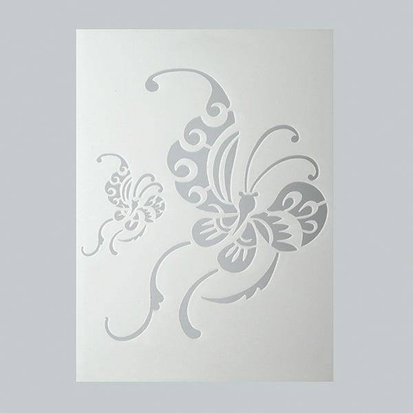 Шаблони за декорация  Шаблон, китайска пеперуда, 2 части, DIN A5