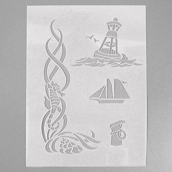 Шаблони за декорация  Шаблон, морски, 4 части, DIN A5