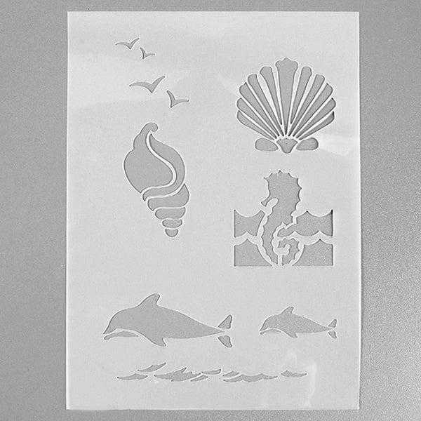 Шаблони за декорация  Шаблон, морски създания, 4 части, DIN A5