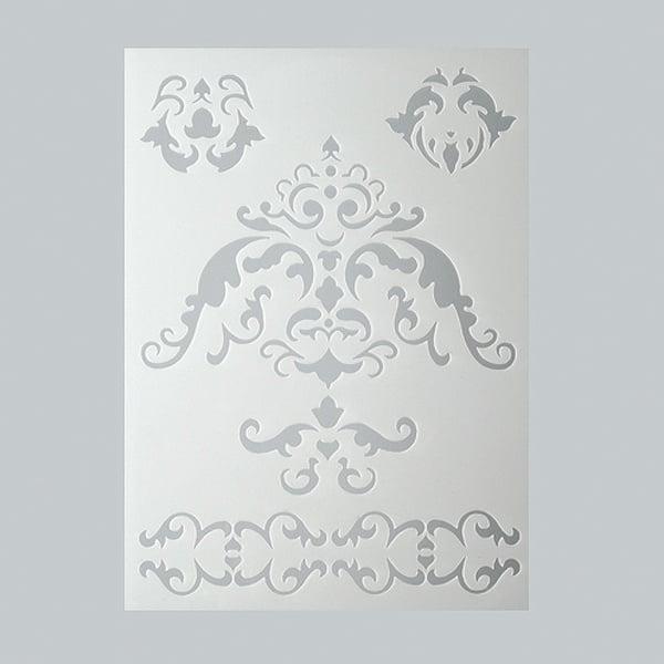 Шаблони за декорация  Шаблон, орнаменти, 5 части, DIN A5