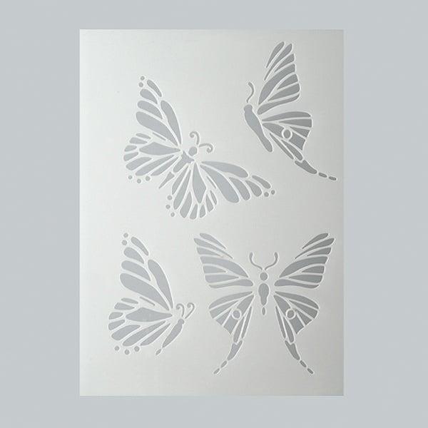 Шаблони за декорация  Шаблон, пеперуди, 4 части, DIN A5