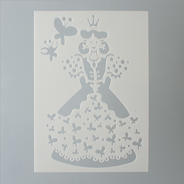 Шаблони за декорация  Шаблон, принцеса 2 части, DIN A5