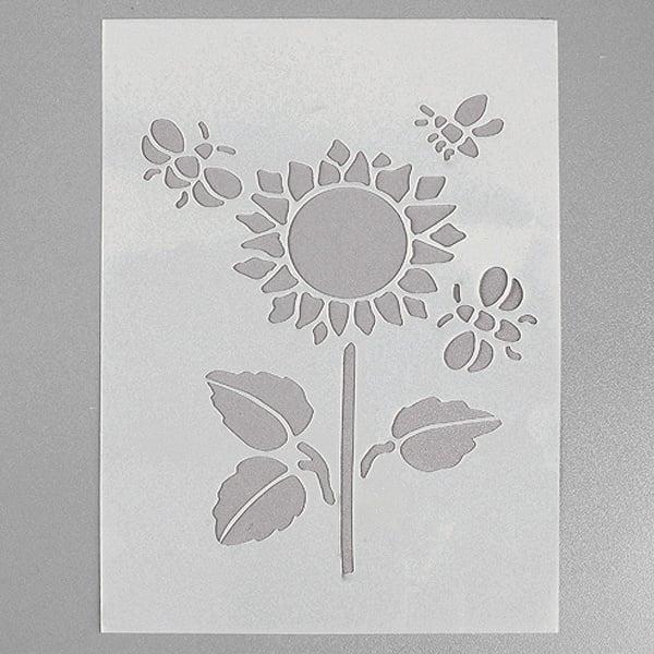 Шаблони за декорация  Шаблон, слънчоглед, 4 части, DIN A5