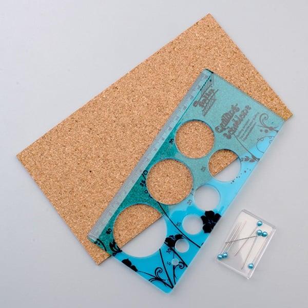 Шаблон за квилинг, Кръгове 5-40 mm, 16 x 7,5 cm, 8 части