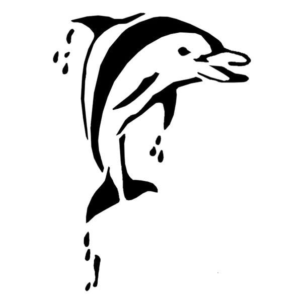 Шаблони за татуировка FANTASY Tattoo Шаблон за татуировка FANTASY Tattoo, делфин