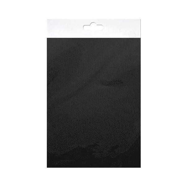 Шифонен шал от естествена коприна, Chiffon, 55 x 180 mm, черен