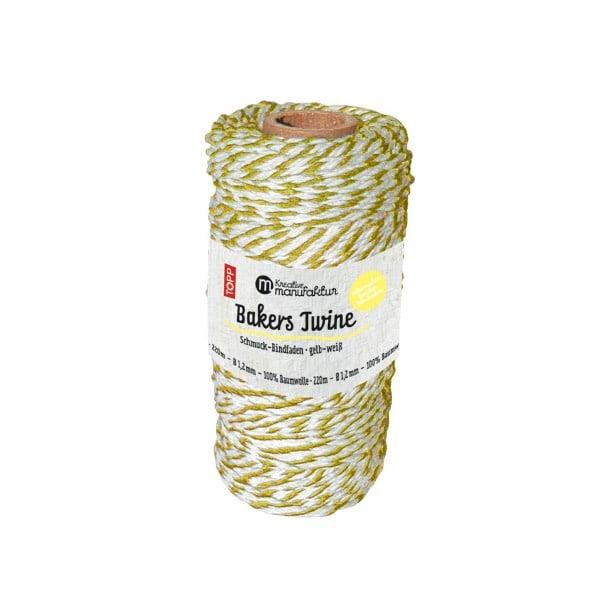 Шнур за опаковане, жълто/бяло