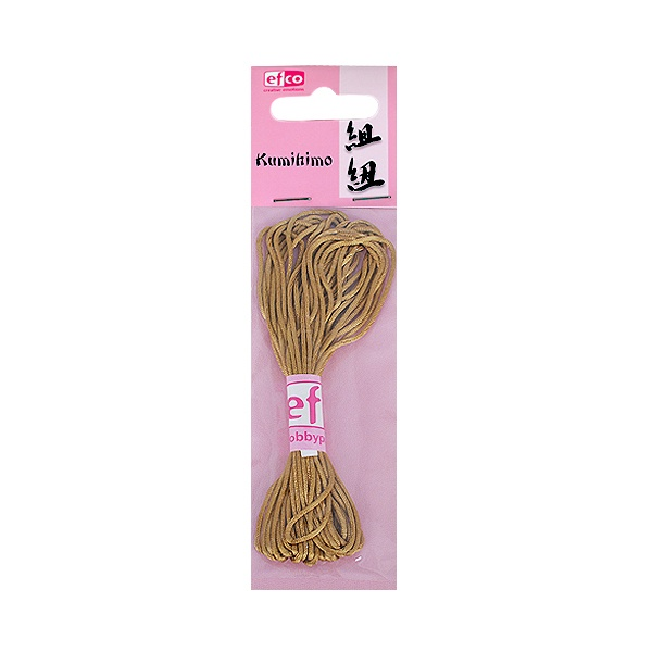 Сплетен шнур, сатен, 1,0 mm / 6 m Сплетен шнур, сатен, 1,0 mm / 6 m, злато