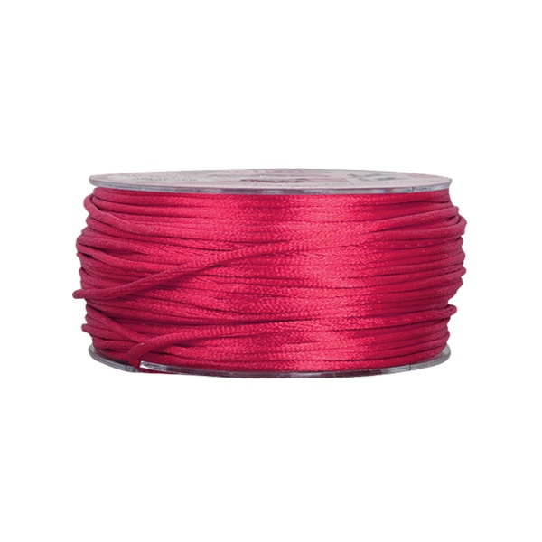 Сплетен шнур, сатен, 1.5 mm, 50 м. ролка Сплетен шнур, сатен, 1.5 mm, 50 м. ролка, бордо