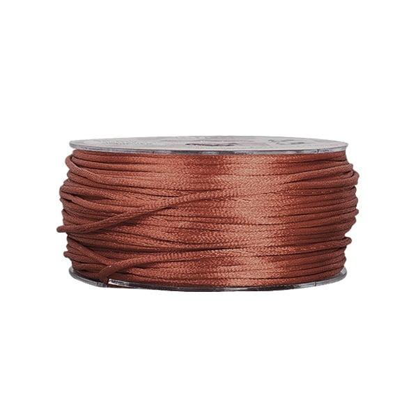 Сплетен шнур, сатен, 1.5 mm, 50 м. ролка Сплетен шнур, сатен, 1.5 mm, 50 м. ролка, шоколад