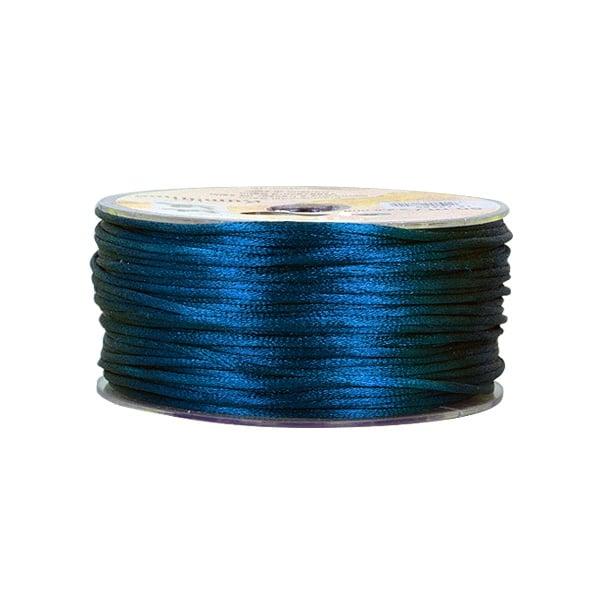 Сплетен шнур, сатен, 1.5 mm, 50 м. ролка Сплетен шнур, сатен, 1.5 mm, 50 м. ролка, син