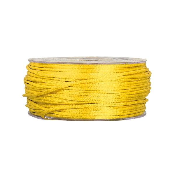Сплетен шнур, сатен, 1.5 mm, 50 м. ролка Сплетен шнур, сатен, 1.5 mm, 50 м. ролка, светло жълто