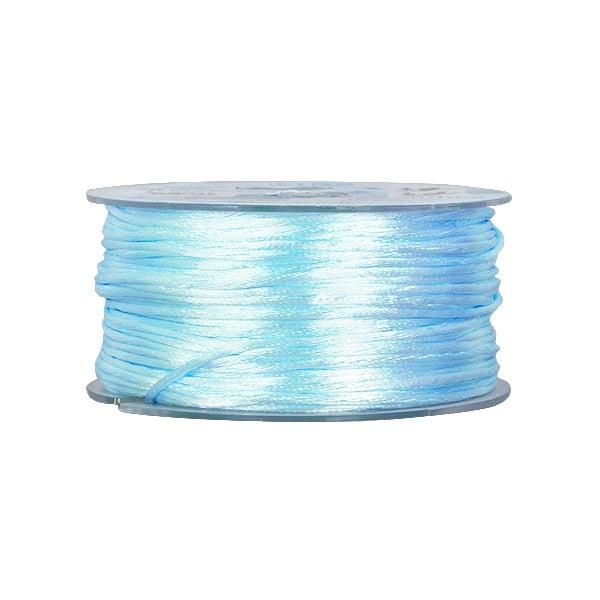 Сплетен шнур, сатен, 1.5 mm, 50 м. ролка Сплетен шнур, сатен, 1.5 mm, 50 м. ролка, светло син
