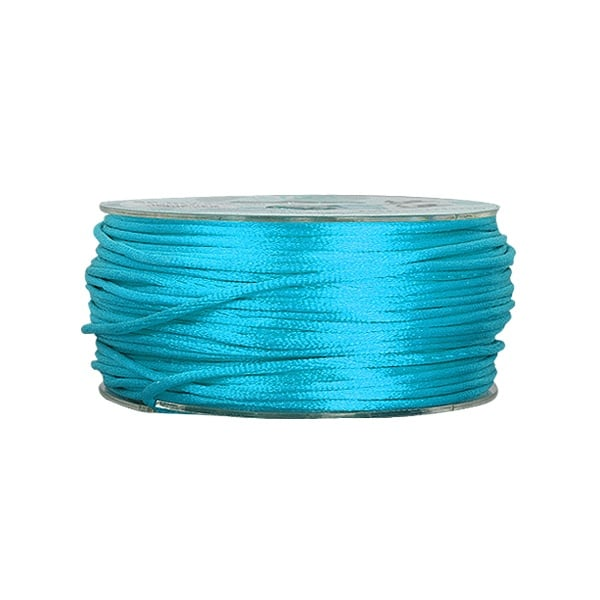 Сплетен шнур, сатен, 1.5 mm, 50 м. ролка Сплетен шнур, сатен, 1.5 mm, 50 м. ролка, тюркоазен