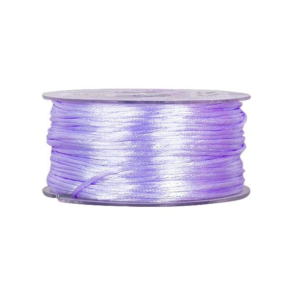 Сплетен шнур, сатен, 1.5 mm, 50 м. ролка Сплетен шнур, сатен, 1.5 mm, 50 м. ролка, виолетов