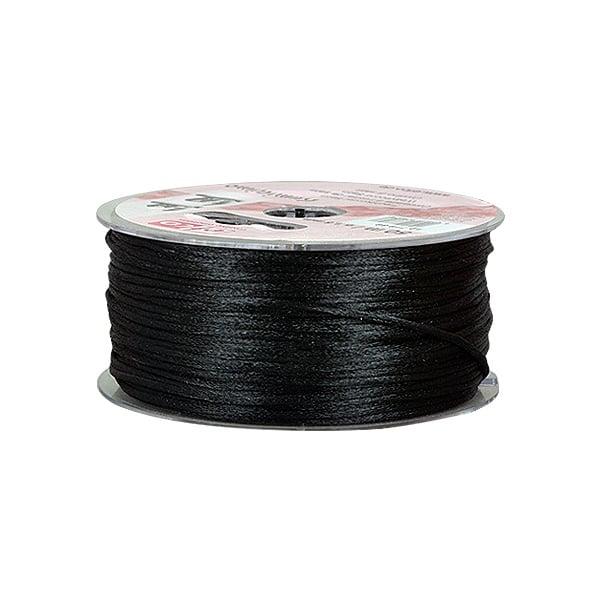 Сплетен шнур, сатен, 1.5 mm, 50 м. ролка Сплетен шнур, сатен, 1.5 mm,50 м. ролка, черен