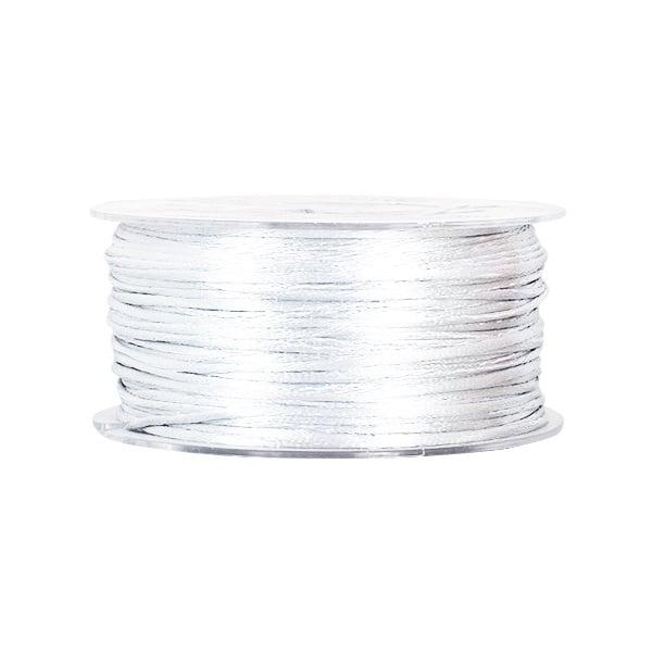 Сплетен шнур, сатен, 2 mm, 50 м. ролка Сплетен шнур, сатен, 2 mm, 50 м. ролка, бял