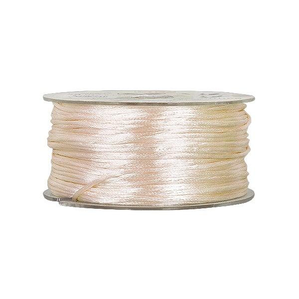 Сплетен шнур, сатен, 2 mm, 50 м. ролка Сплетен шнур, сатен, 2 mm, 50 м. ролка, кремав
