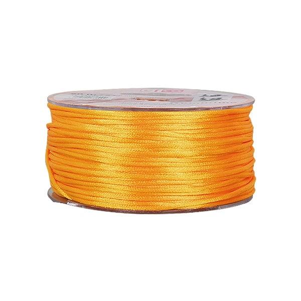 Сплетен шнур, сатен, 2 mm, 50 м. ролка Сплетен шнур, сатен, 2 mm, 50 м. ролка, оранжев