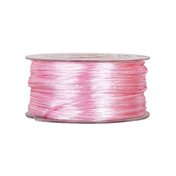 Сплетен шнур, сатен, 2 mm, 50 м. ролка Сплетен шнур, сатен, 2 mm, 50 м. ролка, роза