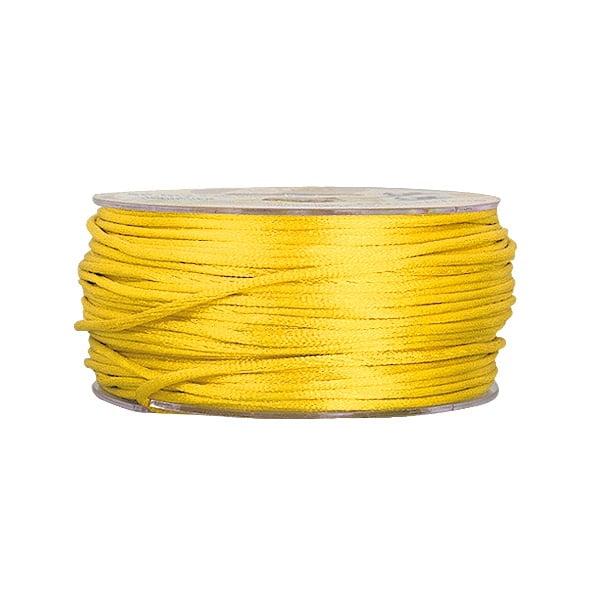Сплетен шнур, сатен, 2 mm, 50 м. ролка Сплетен шнур, сатен, 2 mm, 50 м. ролка, светло жълт