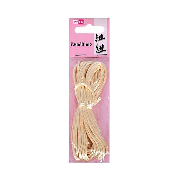 Сплетен шнур, сатен, 2 mm / 6 m Сплетен шнур, сатен, 2 mm / 6 m, кремав