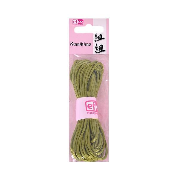Сплетен шнур, сатен, 2 mm / 6 m Сплетен шнур, сатен, 2 mm / 6 m, зелен