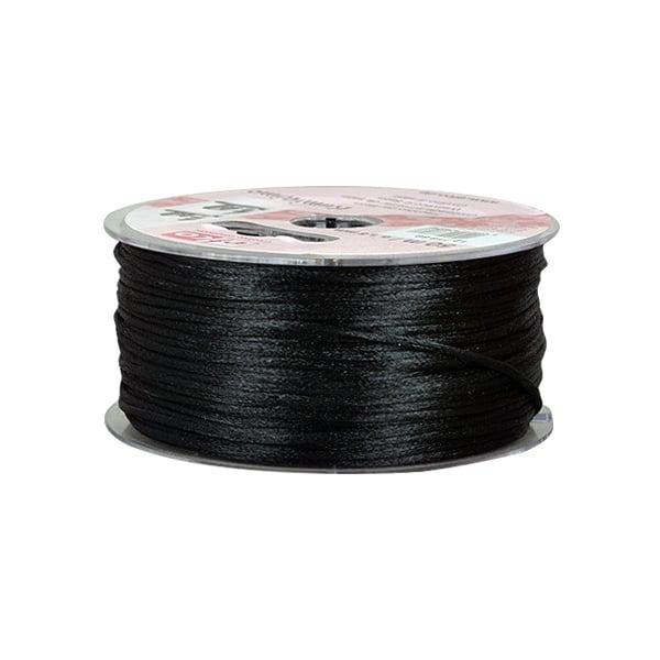 Сплетен шнур, сатен, 2 mm, 50 м. ролка Сплетен шнур, сатен, 2 mm, 50 м. ролка,  черен